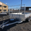 14' x 7' Galvanised Tandem Table Top With Drop Sides