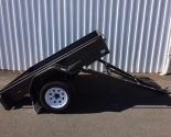 Heavy Duty Manual Tipper Single Axle Box Trailers
