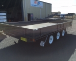 Table Top Tri-Axle Trailer With Drop Sides