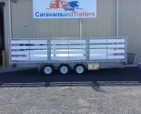 Tri-Axle Table Top Trailer Stock Crate Gate System