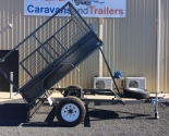 Premium Off Road Winch Tipper Single Axle Trailers